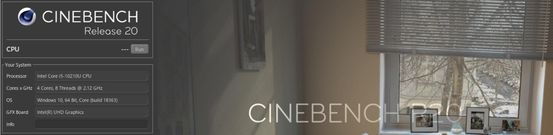 Dynabook G(GZ)2020年春モデルで「CINEBENCH R20」の結果