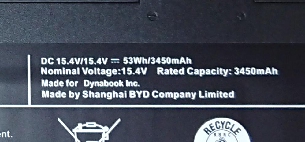 GZ/HPのバッテリーは53Wh/3450mAh