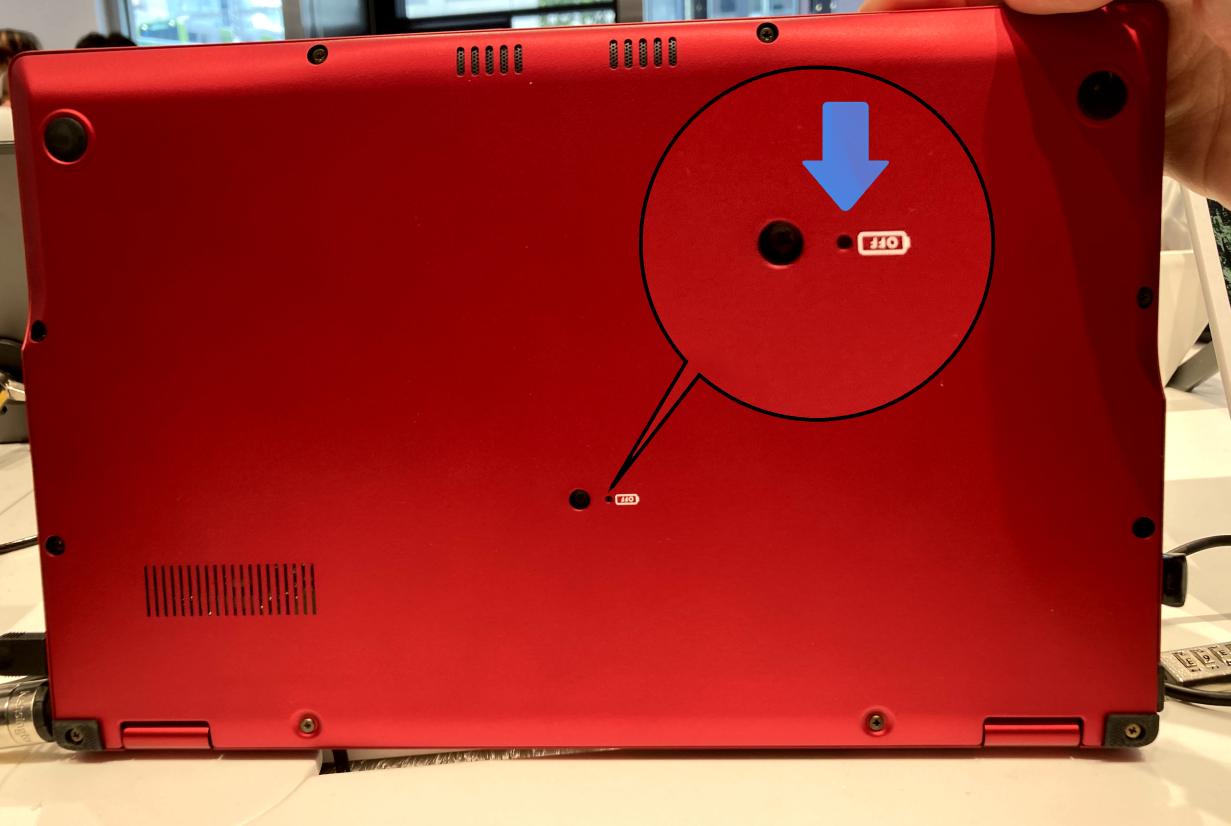 富士通パソコンに付いている「OFFボタン」