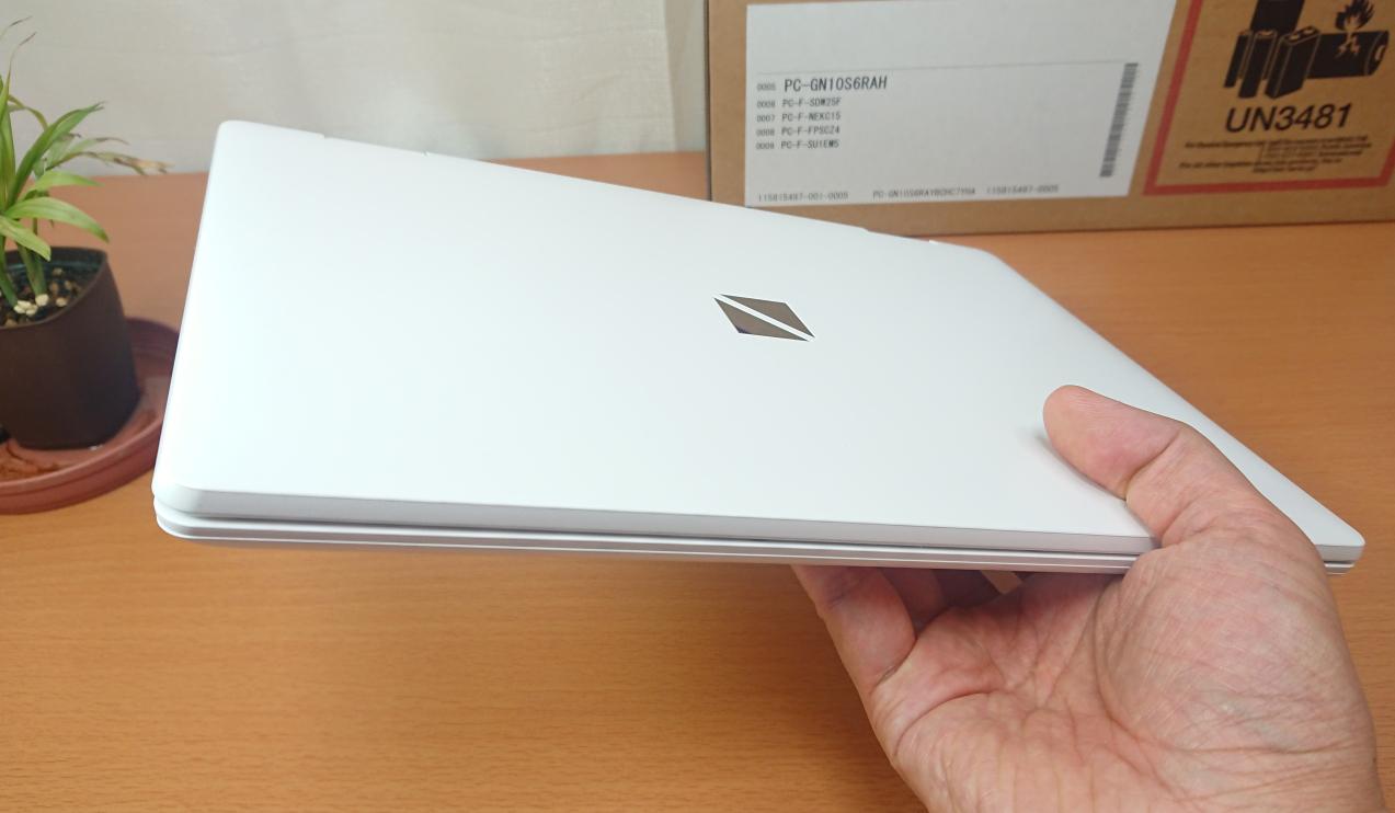 LAVIE Direct NM(2020年春モデル)・パールホワイト:1kgを切るコンパクト設計